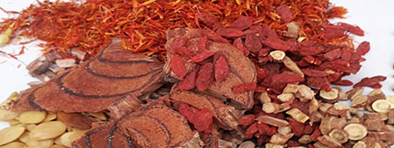 Loose dried herb formula prescribed for a skin problem